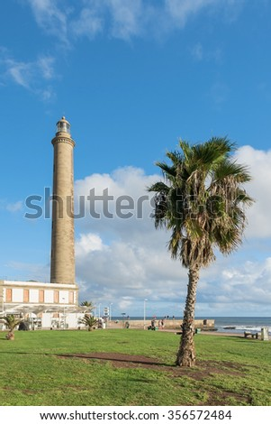 Lighthouse view Maspalomas in Gran Canaria, Spain