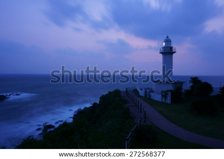 lighthouse with east china sea