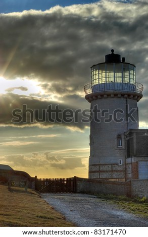 Lighthouse with stormy sky