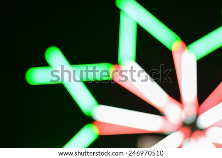Lighting Amusement black background. - stock photo