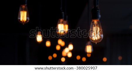 Lighting decor. Retro light bulb