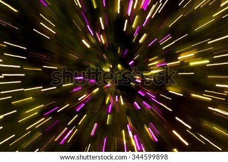 Lighting effects made X'mas tree lights. - stock photo