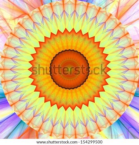 lighting fractal mandala - stock photo