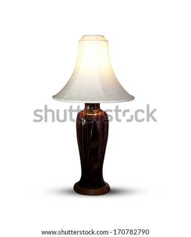 Lighting in the bedroom isolated on white background.
