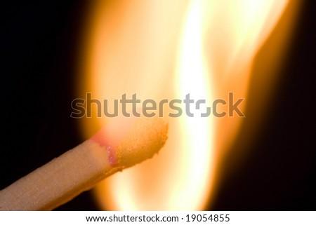 lighting match - stock photo