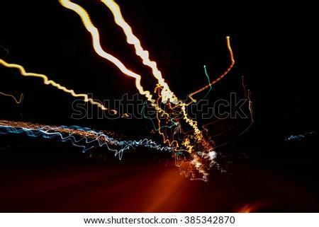 Lighting, motion blur - stock photo