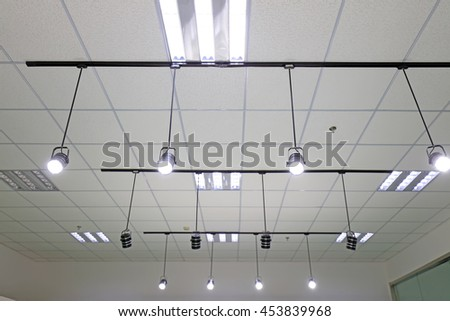 Lighting on the ceiling