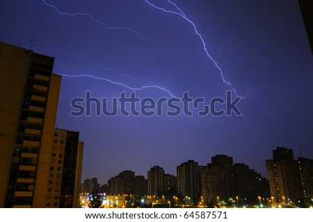 lighting over Belgrade