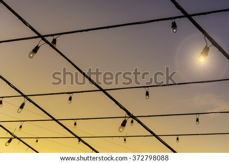 Lighting Rail in Market .