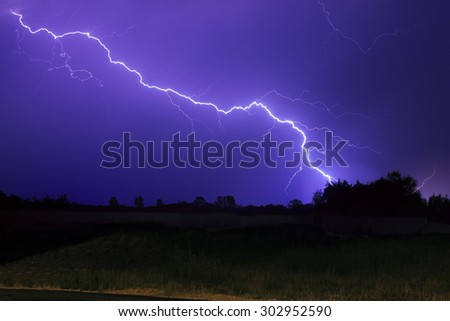 Lighting thunderstorm
