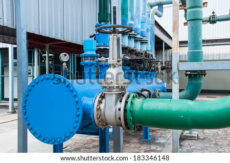 Lightly smoke from industrial chimney polluting the environment  - stock photo