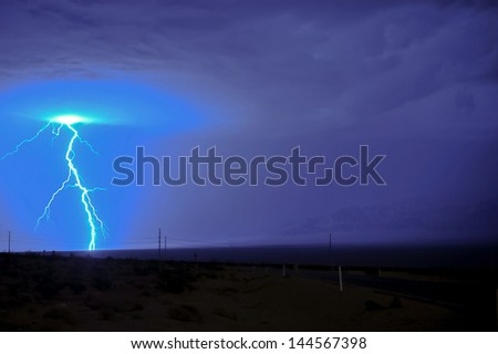 Lightning and thunder - stock photo