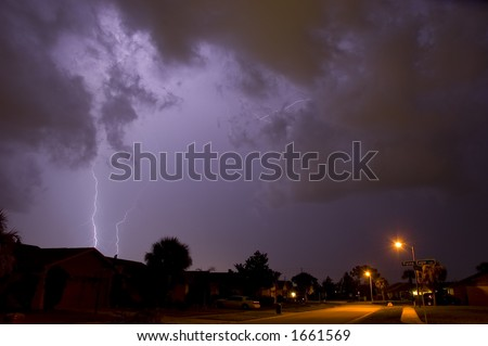 Lightning and thunder in Central Florida