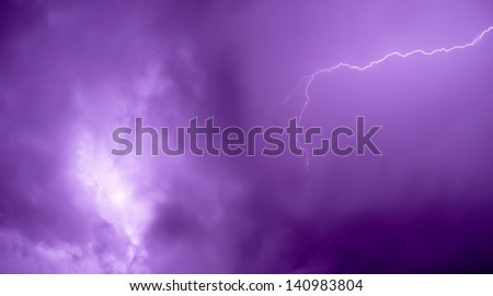 Lightning bolt - stock photo