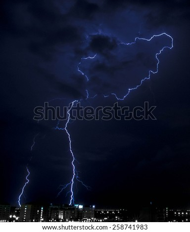 Lightning bolt background