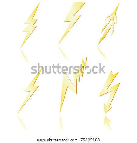 Lightning bolt with reflection.
