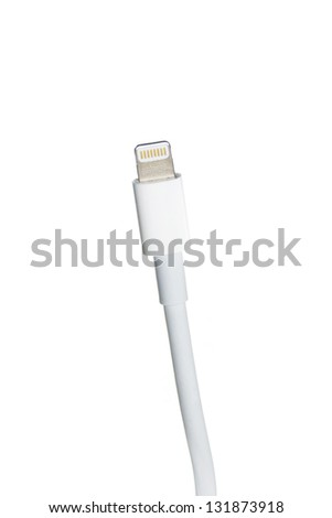 Lightning cable - stock photo