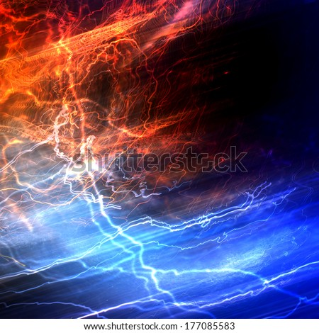Lightning electricity background concept in blue