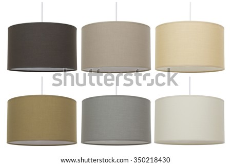 Lightning equipment. Suspended ceiling lights. Isolated on white background. - stock photo