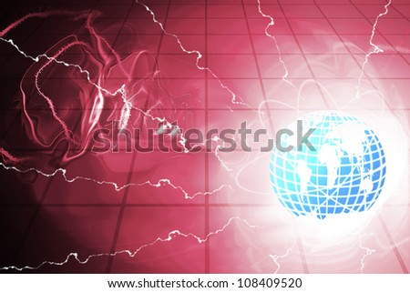 lightning from planet Earth. - stock photo