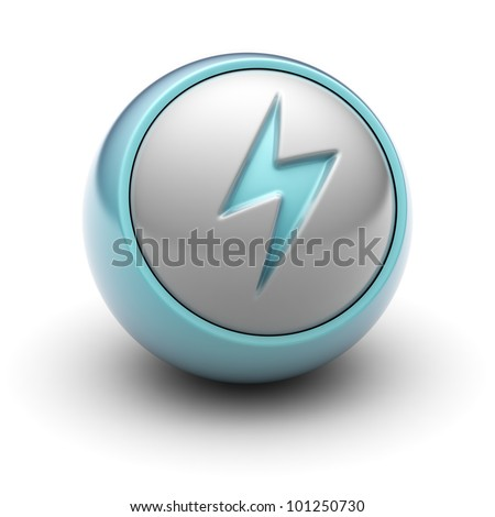 lightning Full collection of icons like that is in my portfolio - stock photo