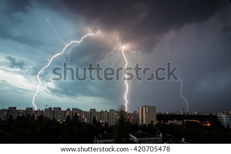 Lightning hits the house