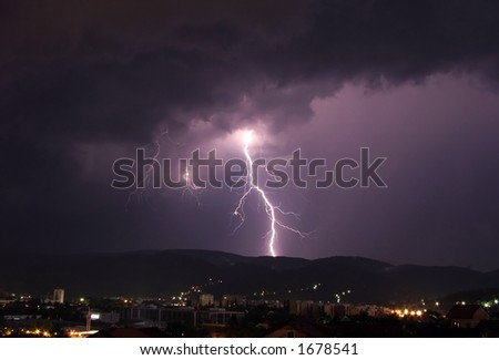 Lightning in the night
