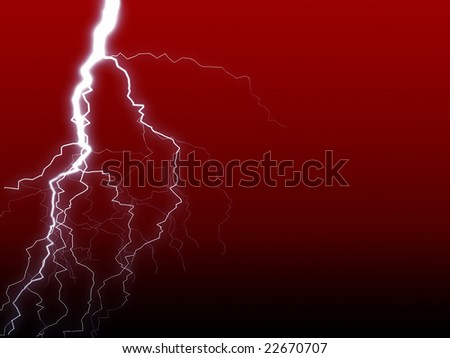 Lightning on red gradient background