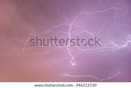 lightning on the sky - stock photo