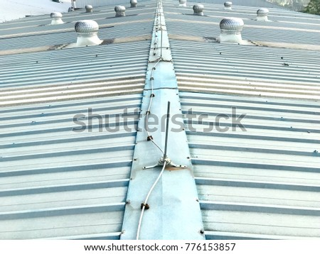 Lightning Rod U0026 Ventilation Roof On Factory Metal Sheet Roof