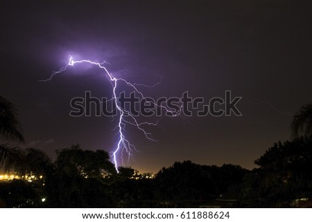 Lightning storm long exposure capture