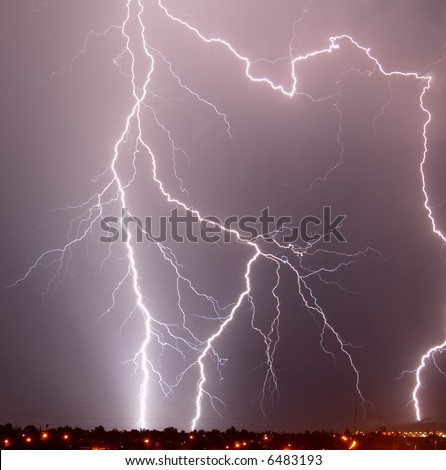 Lightning, Tucson AZ - stock photo