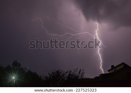 lightning under the city