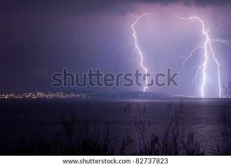 Lightnings over the Balaton