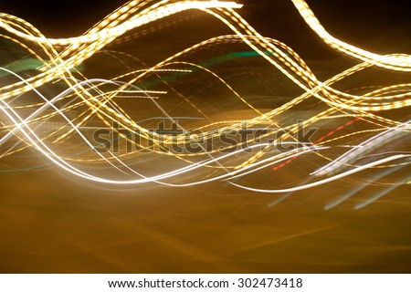 lights abstract movement background - stock photo