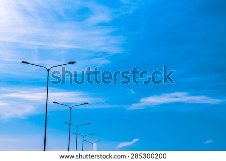 lights against the sky - stock photo
