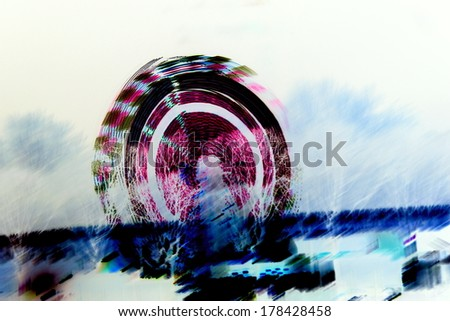lights at the carnival - stock photo