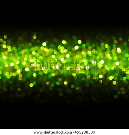 Lights Background, Abstract Seamless Blur Light Bokeh, Green Glow Dots Pattern