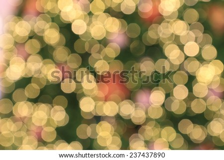 Lights blurred bokeh background from christmas