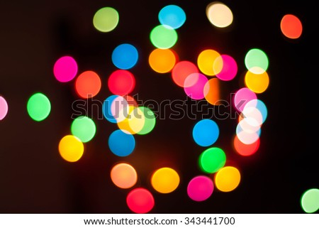 Lights blurred bokeh background from christmas night party for your design.