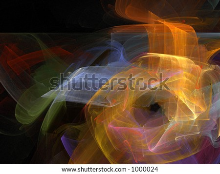 Lights; Fractal Art ;  illustration - stock photo