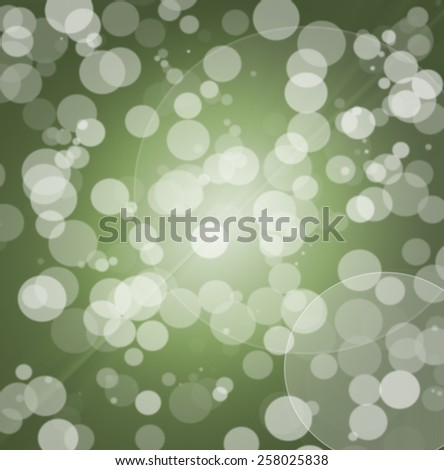 Lights green bokeh abstract light background - stock photo
