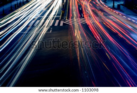 Lights in Motion - stock photo