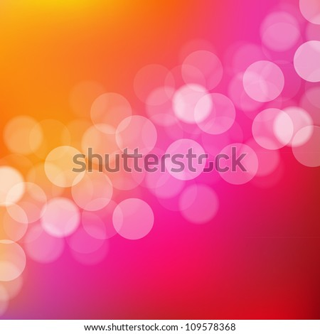 Lights Pink And Orange Background With Bokeh - stock photo