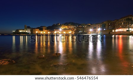 Lights reflections - Baia del Silenzio - Sestri Levante - Ligurian sea