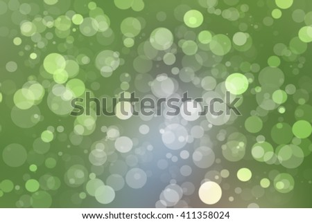 Lights Soft blurred bokeh abstract green background.