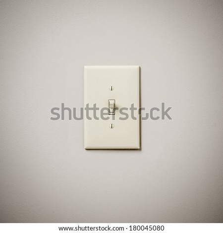 Lightswitch on Wall On - stock photo
