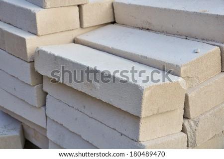 lightweight concrete block - stock photo