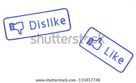 Like and Dislike Stamp - stock photo