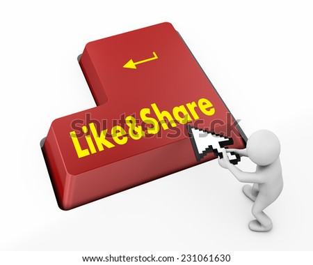 like and share button facebook,twitter,socail media, - stock photo